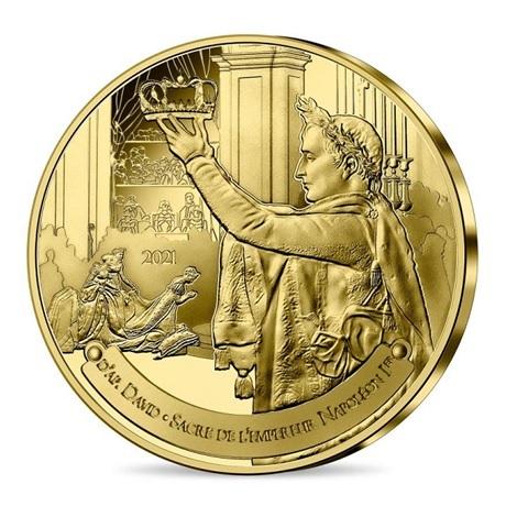 (EUR07.025.2021.10041355240000) Quart euro France 2021 - Sacre de Napoléon et musée du Louvre Avers