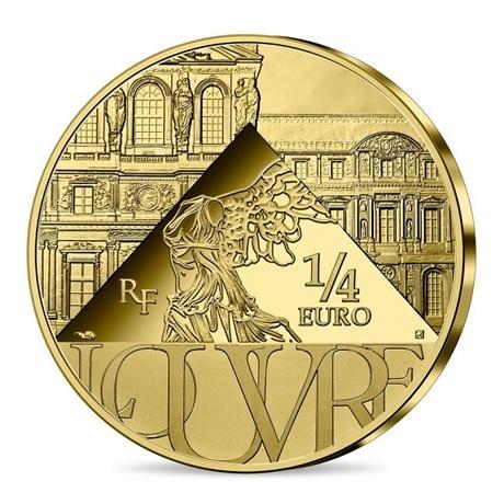 (EUR07.025.2021.10041355240000) Quart euro France 2021 - Sacre de Napoléon et musée du Louvre Revers