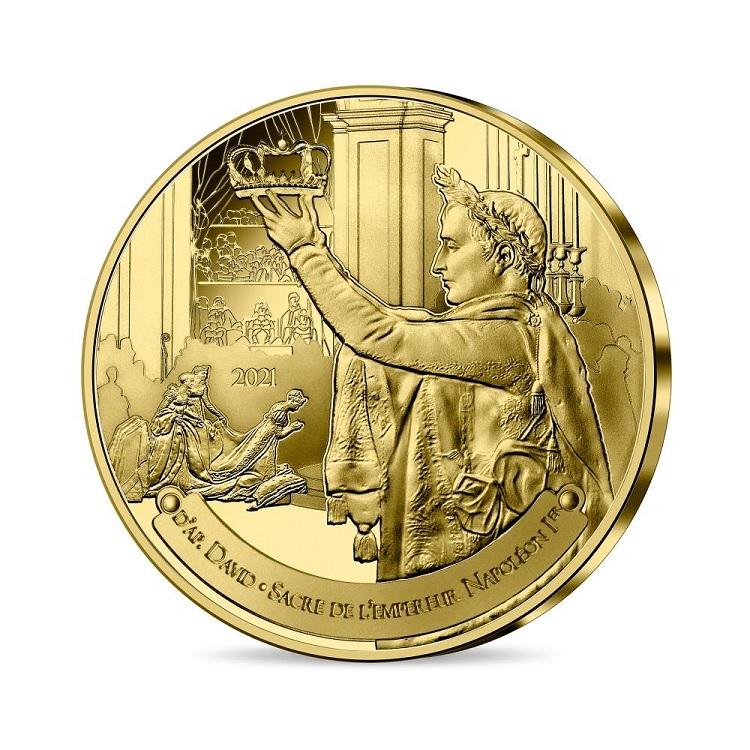 (EUR07.025.2021.10041355240000) Quarter € France 2021 - The Coronation of Napoleon Obverse (zoom)