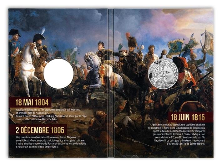 (EUR07.10.E.2021.10041355310005) 10 € France 2021 Ag - Napoleon I (packaging) (zoom)