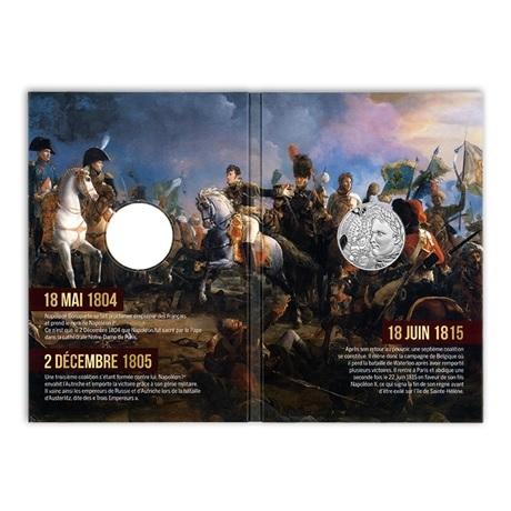 (EUR07.10.E.2021.10041355310005) 10 € France 2021 argent - Napoléon Ier (cartelette)