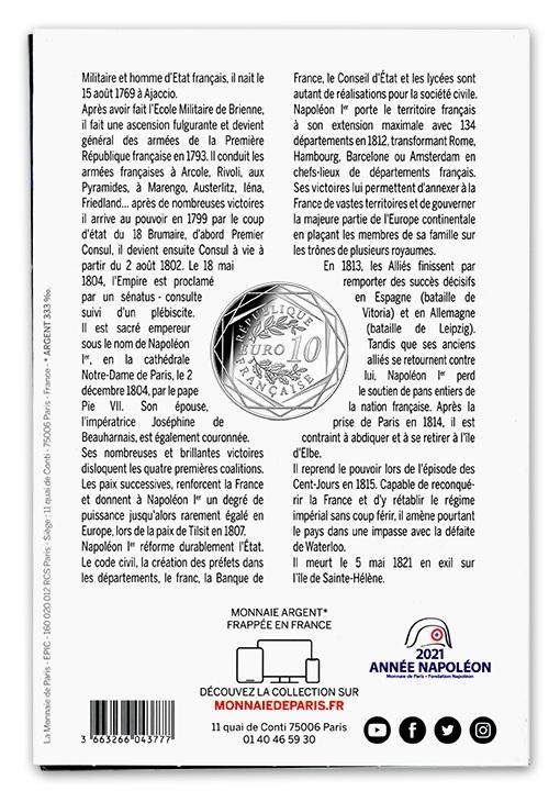 (EUR07.10.E.2021.10041355310005) 10 euro France 2021 Ag - Napoleon I Back (zoom)