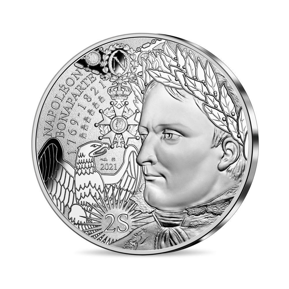 (EUR07.100.E.2021.10041355300005) 100 euro France 2021 silver - Napoleon I Obverse (zoom)