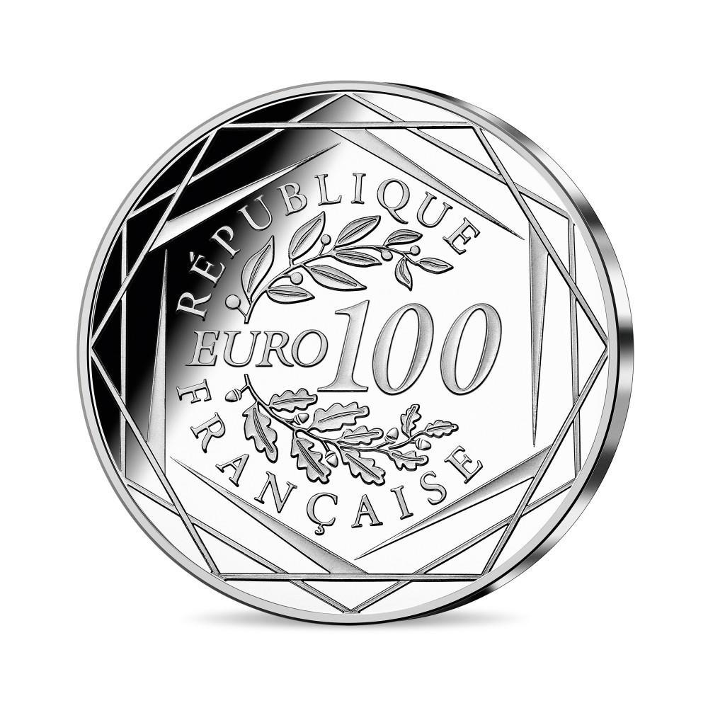 (EUR07.100.E.2021.10041355300005) 100 euro France 2021 silver - Napoleon I Reverse (zoom)