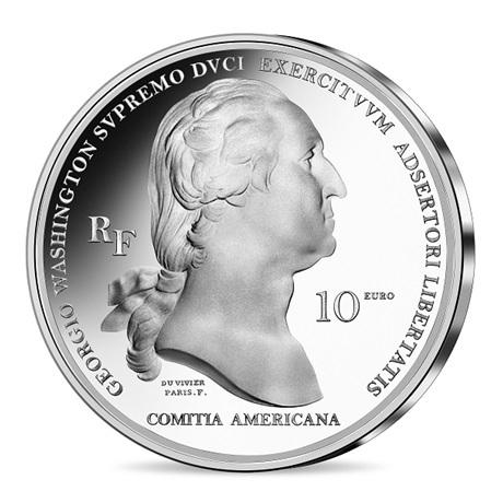 (EUR07.Proof.2021.10041354940000) 10 euro France 2021 argent BE - George Washington Avers
