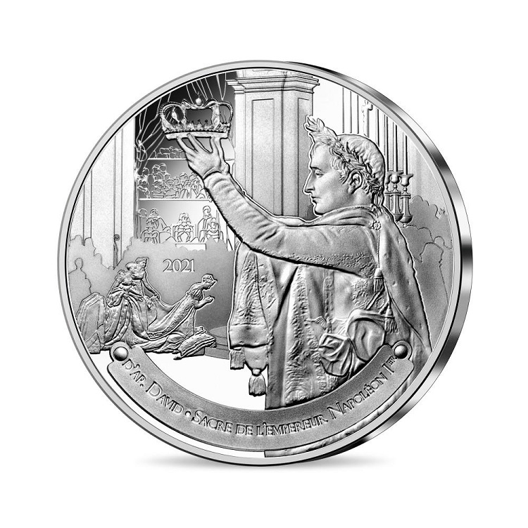 (EUR07.Proof.2021.10041355230000) 10 € France 2021 Proof Ag - The Coronation of Napoleon Obverse (zoom)
