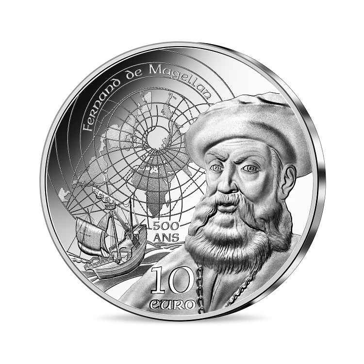 (EUR07.Proof.2021.10041355470000) 10 euro France 2021 Proof silver - Magellan Obverse (zoom)