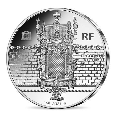 (EUR07.Proof.2021.10041355470000) 10 euro France 2021 argent BE - Couvent du Christ & Magellan Revers