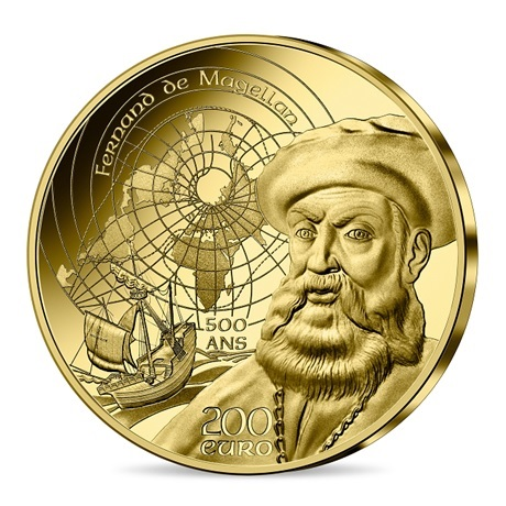 (EUR07.Proof.2021.10041355810001) 200 euro France 2021 or BE - Couvent du Christ & Magellan Avers