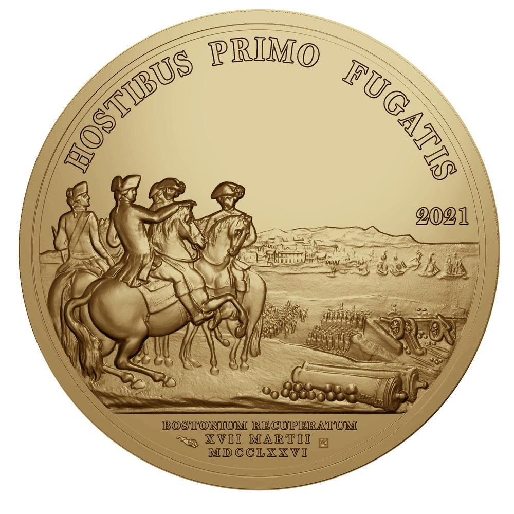 (EUR07.Proof.2021.10041356460000) 200 euro France 2021 Antique gold - Washington Reverse (zoom)
