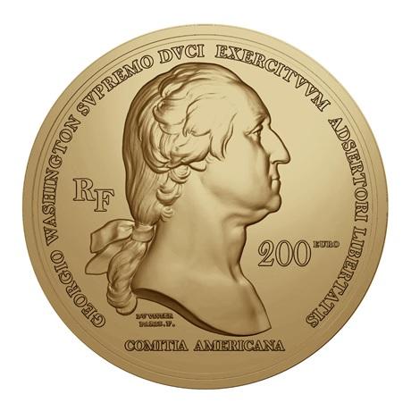 (EUR07.Proof.2021.10041356460000) 200 euro France 2021 or Antique - George Washington Avers