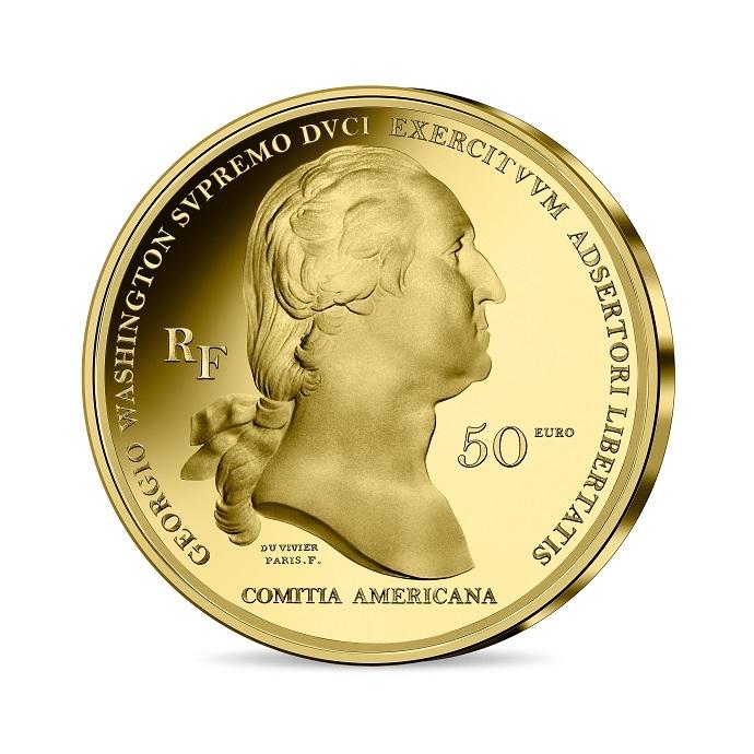 (EUR07.Proof.2021.10041356470000) 50 euro France 2021 Proof gold - Washington Obverse (zoom)