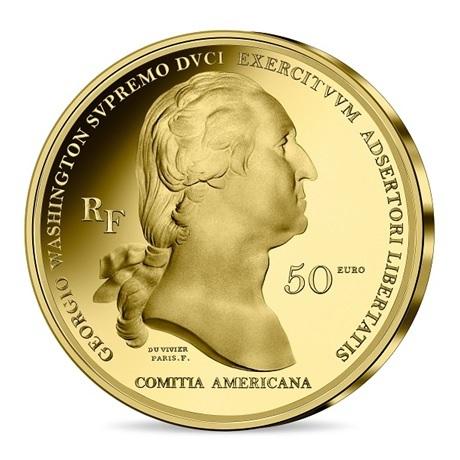 (EUR07.Proof.2021.10041356470000) 50 euro France 2021 or BE - George Washington Avers