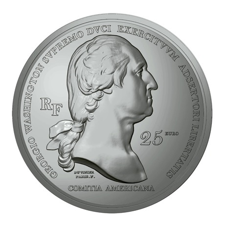 (EUR07.Proof.2021.10041356480000) 25 euro France 2021 argent Antique - George Washington Avers