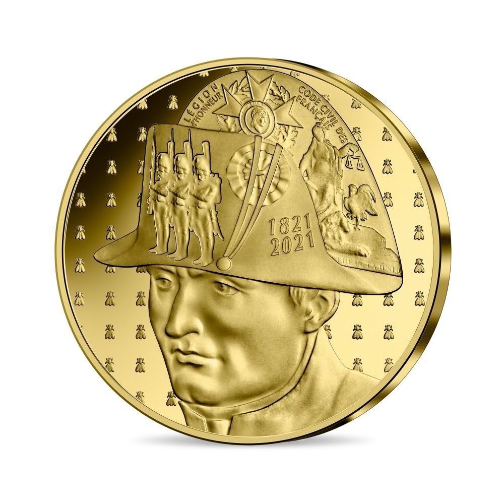 (EUR07.Proof.2021.10041356530000) 50 euro France 2021 Proof gold - Napoléon Obverse (zoom)