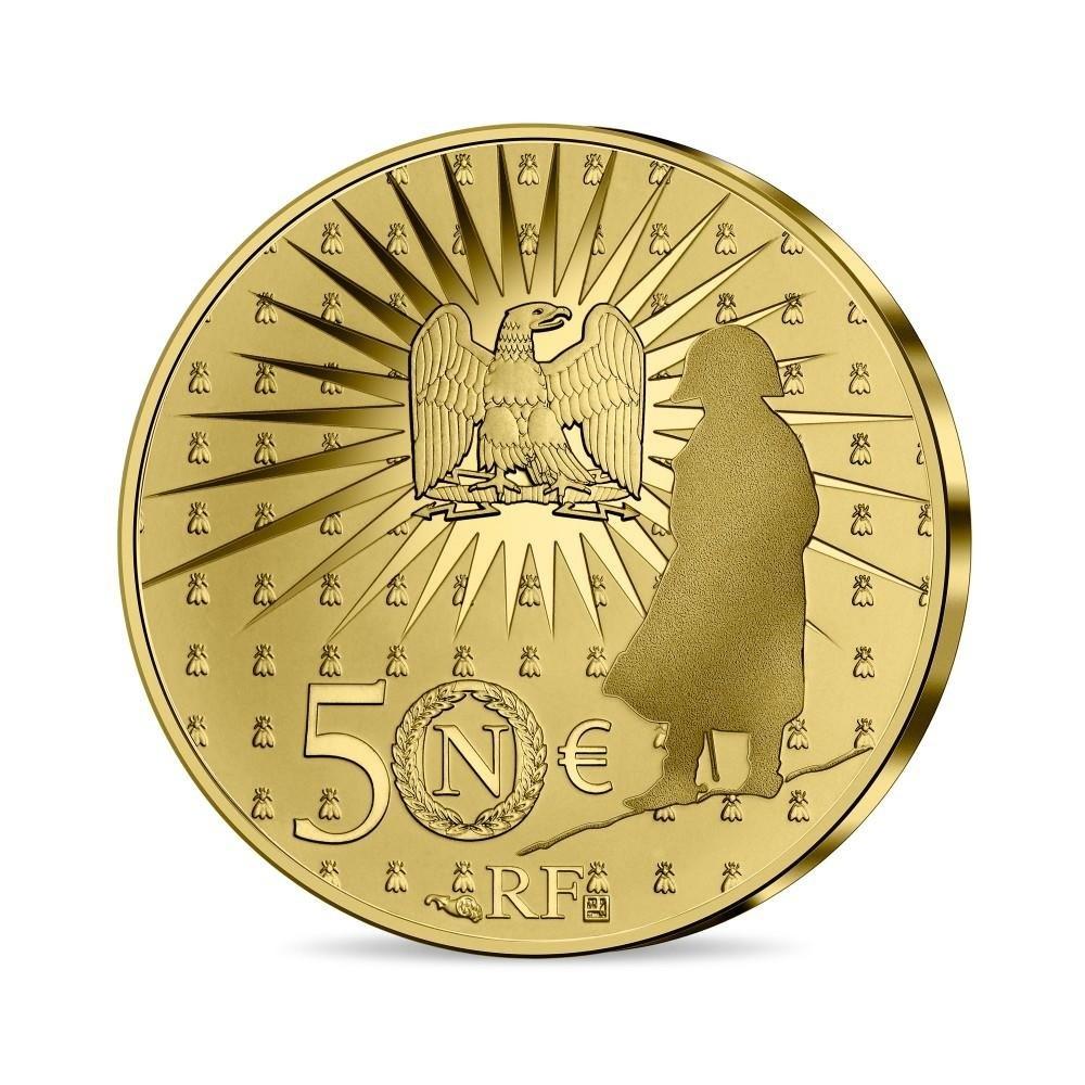 (EUR07.Proof.2021.10041356530000) 50 euro France 2021 Proof gold - Napoléon Reverse (zoom)