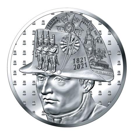 (EUR07.Proof.2021.10041356540000) 50 euro France 2021 argent BE - Napoléon Avers