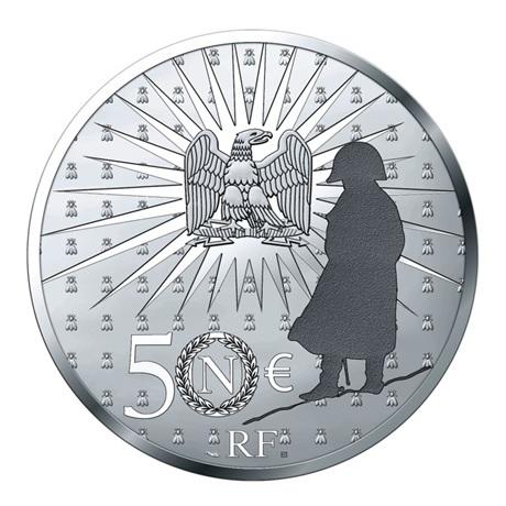(EUR07.Proof.2021.10041356540000) 50 euro France 2021 argent BE - Napoléon Revers