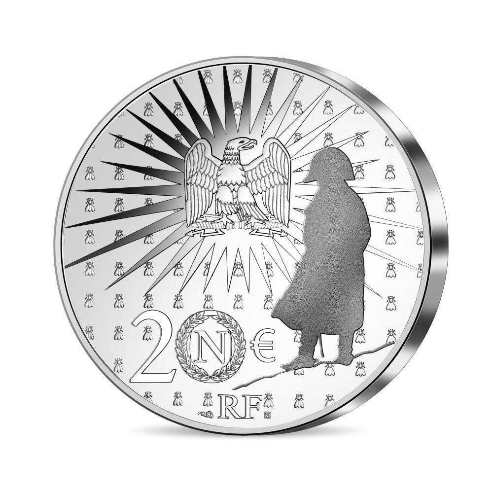 (EUR07.Proof.2021.10041356550000) 20 euro France 2021 Proof Ag - Napoléon Reverse (zoom)