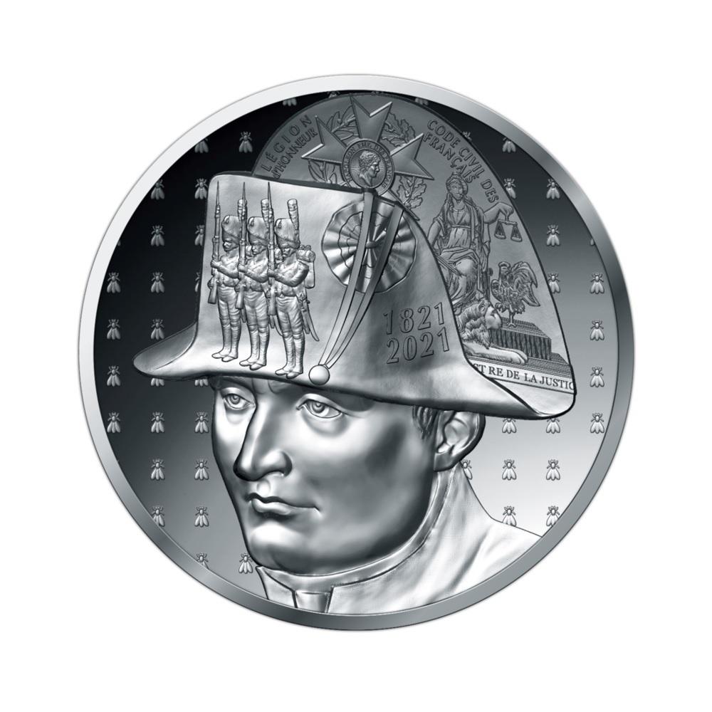 (EUR07.Proof.2021.10041356550000) 20 euro France 2021 Proof silver - Napoléon Obverse (zoom)
