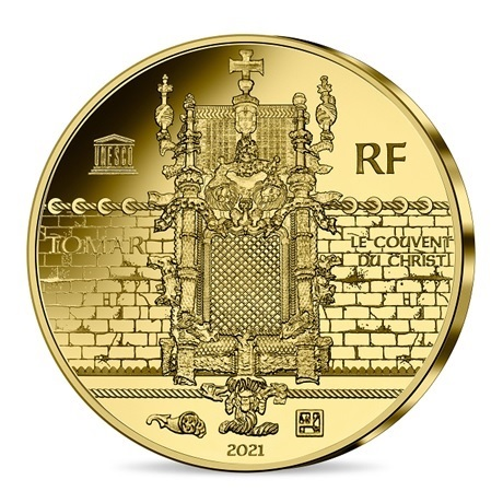 (EUR07.Proof.2021.10041356570000) 50 euro France 2021 or BE - Couvent du Christ & Magellan Revers