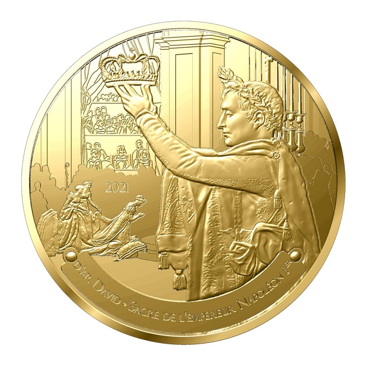 (EUR07.Proof.2021.10041356690000) 50 € France 2021 Proof Au - The Coronation of Napoleon Obverse (zoom)