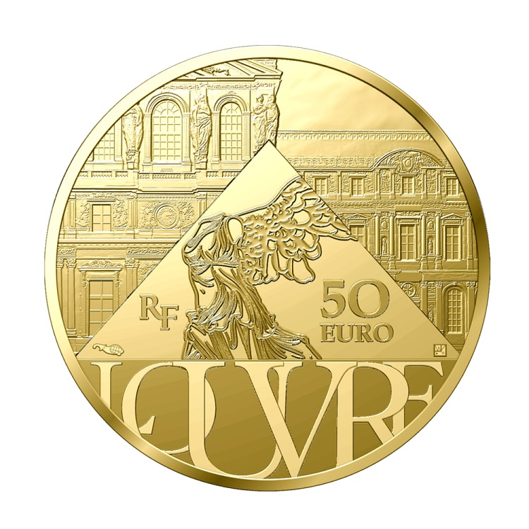 (EUR07.Proof.2021.10041356690000) 50 € France 2021 Proof Au - The Coronation of Napoleon Reverse (zoom)