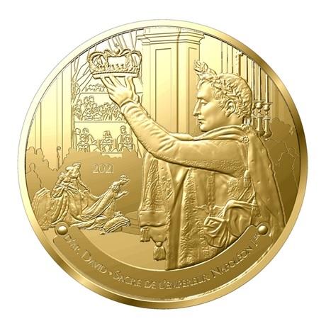 (EUR07.Proof.2021.10041356690000) 50 euro France 2021 or BE - Sacre de Napoléon Avers