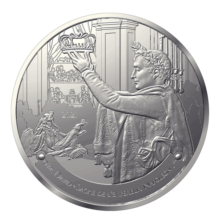 (EUR07.Proof.2021.10041356700000) 50 € France 2021 Proof Ag - The Coronation of Napoleon Obverse (zoom)