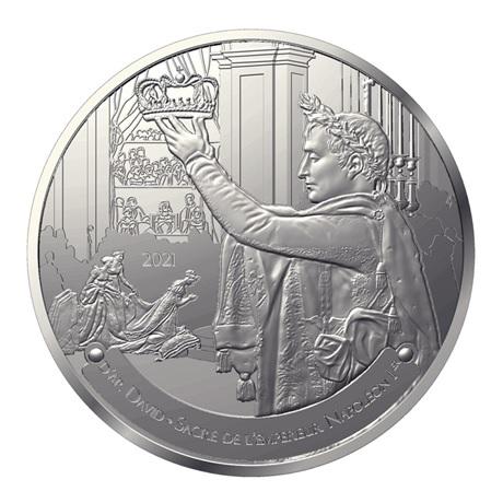 (EUR07.Proof.2021.10041356700000) 50 euro France 2021 argent BE - Sacre de Napoléon Avers
