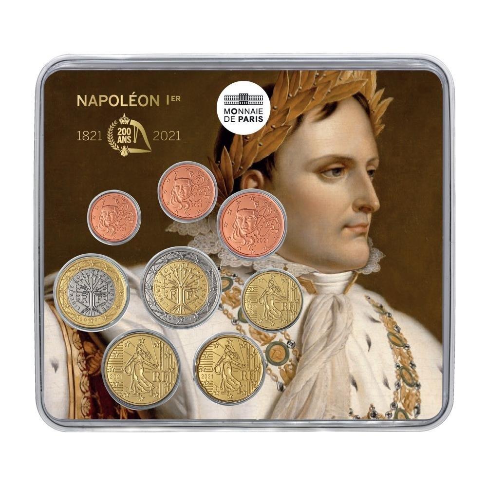 (EUR07.mini-set.2021.10041359040000) BU coin set France 2021 - Napoléon Front (zoom)