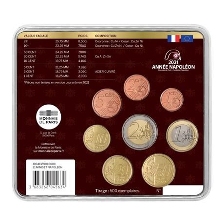(EUR07.mini-set.2021.10041359040000) Mini-set BU France 2021 - Napoléon Verso