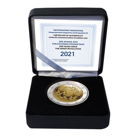 (EUR08.ComBU&BE.2021.200.BE.COM1) 2 euro Grèce 2021 BE - Révolution grecque (écrin)