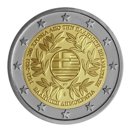 (EUR08.ComBU&BE.2021.200.BE.COM1) 2 euro Grèce 2021 BE - Révolution grecque Avers