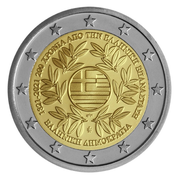 (EUR08.ComBU&BE.2021.200.BE.COM1) 2 euro Greece 2021 Proof - Greek revolution Obverse (zoom)