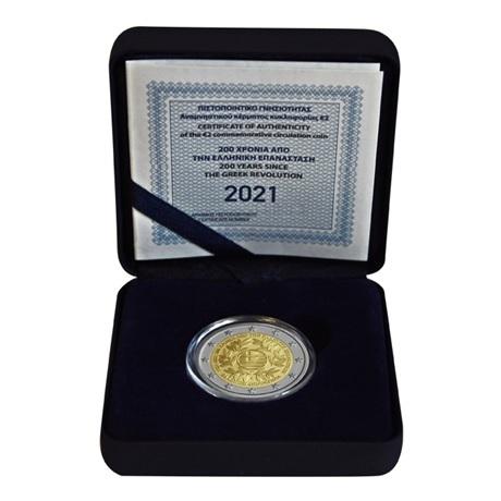 (EUR08.ComBU&BE.2021.200.BE.COM1) 2 euro commémorative Grèce 2021 BE - Révolution grecque (écrin)