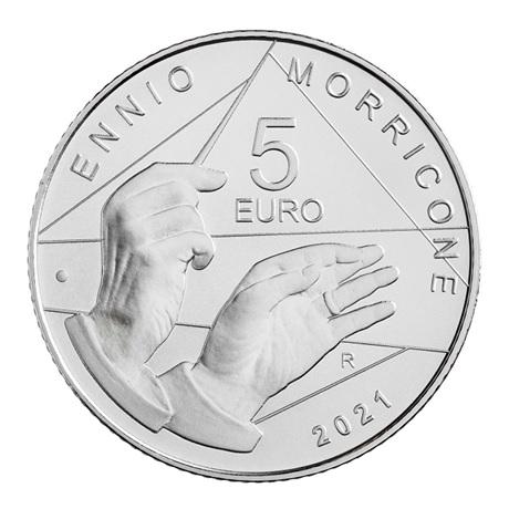 (EUR10.BU.2021.48-2MS10-21F013) 5 euro Italie 2021 argent BU - Ennio Morricone Revers