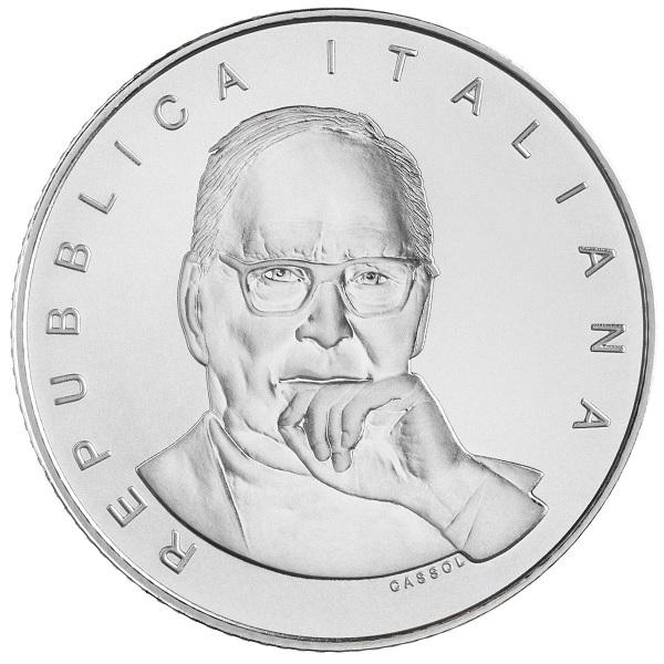 (EUR10.BU.2021.48-2MS10-21F013) 5 euro Italy 2021 BU silver - Ennio Morricone Obverse (zoom)
