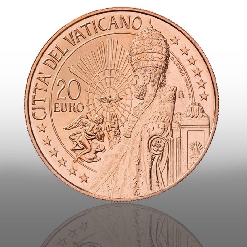 (EUR19.20.E.2021.CN1572) 20 euro Vatican 2021 - Saint Peter Obverse (zoom)