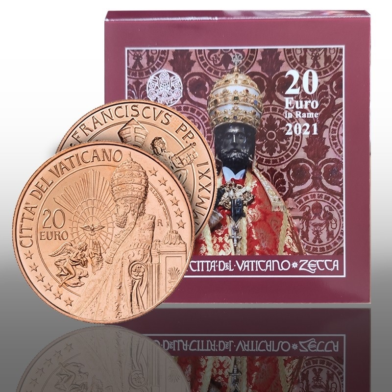 (EUR19.20.E.2021.CN1572) 20 euro Vatican 2021 - Saint Peter (packaging) (zoom)