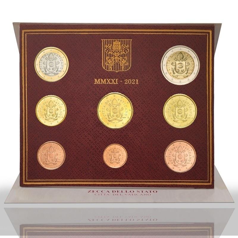 (EUR19.BU.set.2021.CN1568) BU coin set Vatican 2021 (zoom)