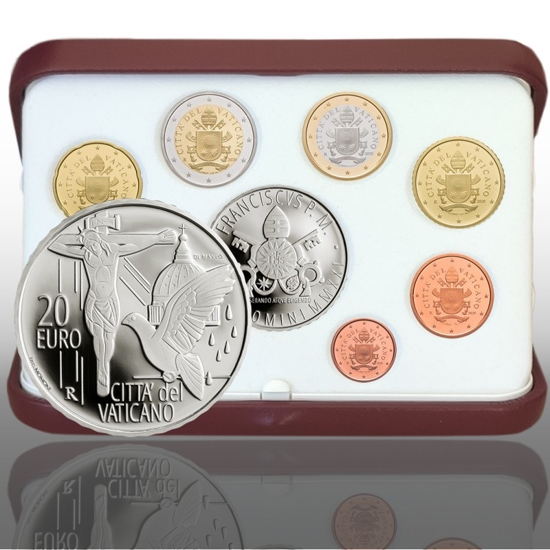 (EUR19.Proof.set.2021.CN1570) Proof coin set Vatican 2021 - Prayer against the pandemic (zoom)