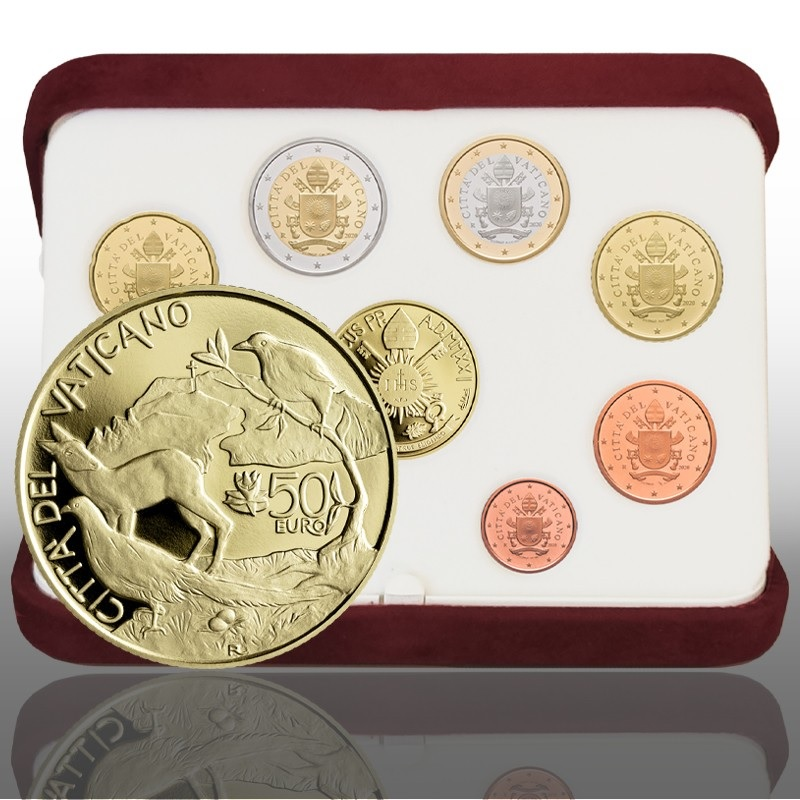 (EUR19.Proof.set.2021.CN1571) Proof coin set Vatican 2021 - Respect and care of the Earth (zoom)