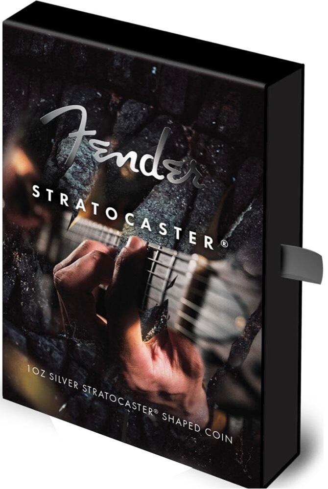 (W106.2.D.2021.1.oz.Ag.1) 2 $ Iles Salomon 2021 1 oz Proof Ag - Fender Stratocaster (packaging) (zoom)