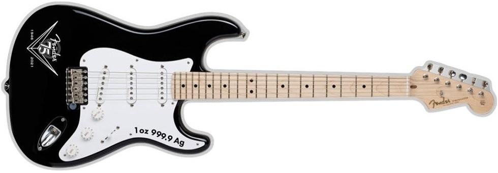 (W106.2.D.2021.1.oz.Ag.1) 2 $ Iles Salomon 2021 1 oz Proof silver - Fender Stratocaster Reverse (zoom)