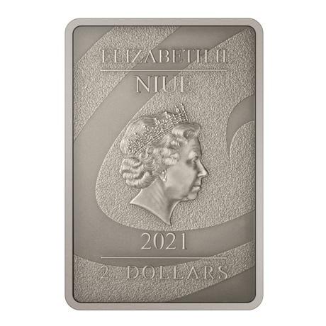 (W160.2.D.2021.30-01049) 2 Dollars Niue 2021 1 once argent Antique - Le Cauchemar avant Noël Avers