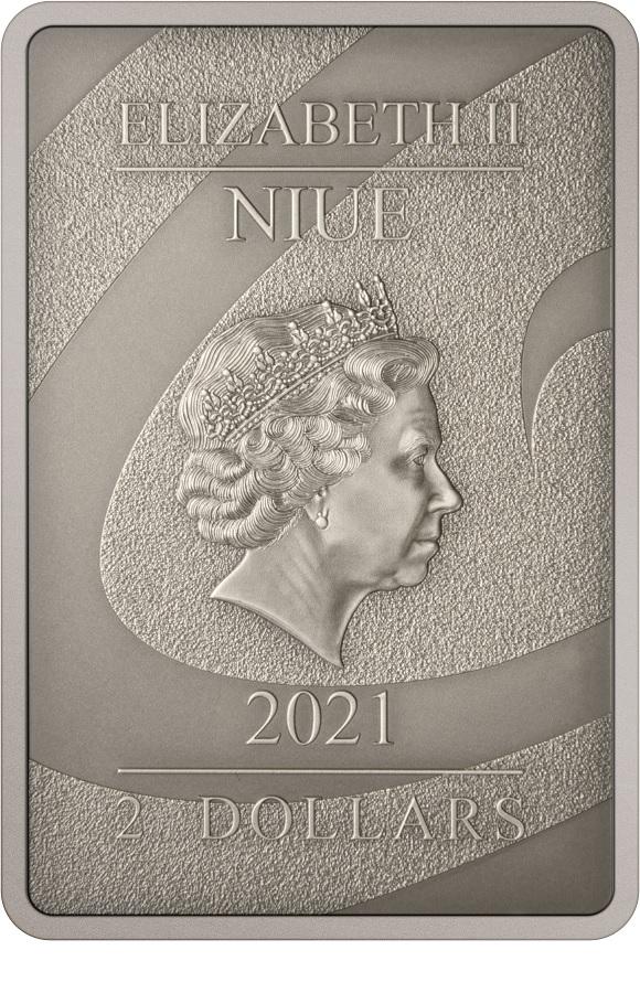 (W160.2.D.2021.30-01049) 2 Dollars Niue 2021 1 oz Antiqued silver - Nightmare Before Christmas Obverse (zoom)