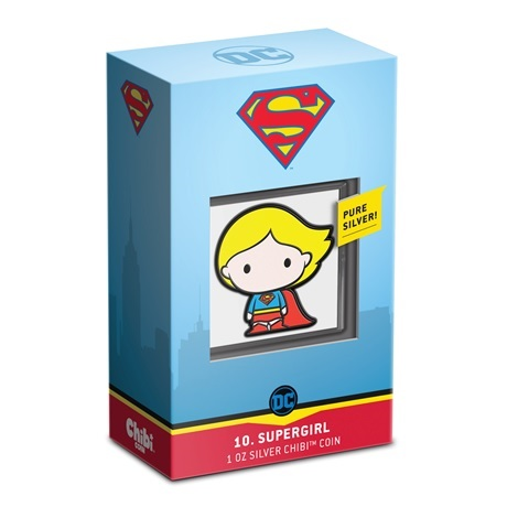 (W160.2.D.2021.30-01059) 2 Dollars Niue 2021 1 once Ag BE - Chibi Supergirl (packaging)