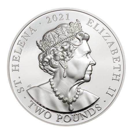 (W191.2.P.2021.29563) 2 Pounds Napoléon 2021 - Argent BE Avers