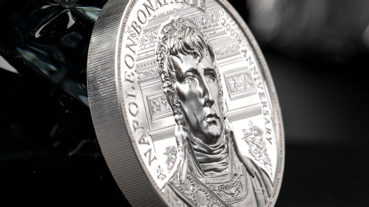 (W191.2.P.2021.29563) 2 Pounds Napoleon Bonaparte 2021 - Proof Ag (edge) (zoom)